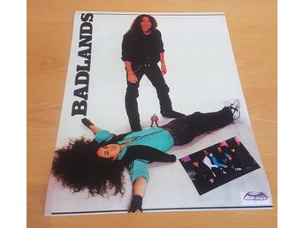 BADLANDS BLACK SABBATH KISS OZZY 1989 POSTER
