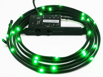 NZXT Sleeved LED Kit Cable 2M - Green