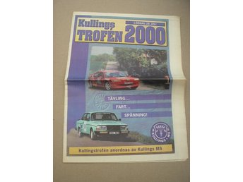 Rally Program Kullingstrofen Kullings MS 29/7 2000