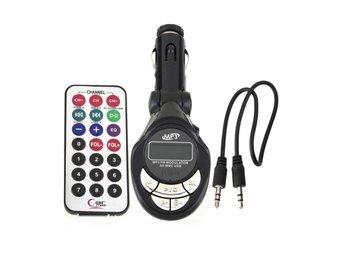 Bil mp3-spelare trådlös FM-sändare modulator USB SD CD MMC Remote - Hörby - Bil mp3-spelare trådlös FM-sändare modulator USB SD CD MMC Remote - Hörby