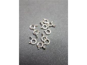 10 st sterling silver lås 10 mm - Rörbäcksnäs - 10 st sterling silver lås 10 mm - Rörbäcksnäs