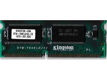 Kingston. 1 x 32MB.