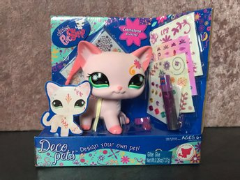 LPS littlest pet shop Deco pets, katt, Hasbro