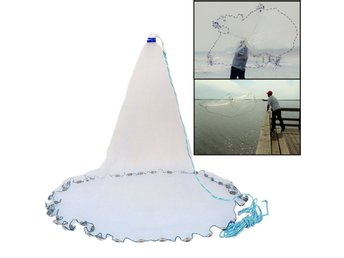Nylon 3.6m/10ft Fishing Cast Net American Style Throwing ...