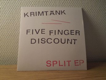 krimtänk/Five finger discount split ep Hardcore rock