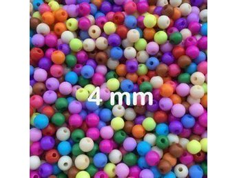 1000-pack akrylpärlor mix runda 4mm - Frösön - 1000-pack akrylpärlor mix runda 4mm - Frösön