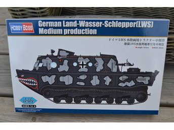 German Land-Wasser-Schlepper LWS Amfiberfordon WW2 1:72 HobbyBoss 82919 Ny - Vännäs - German Land-Wasser-Schlepper LWS Amfiberfordon WW2 1:72 HobbyBoss 82919 Ny - Vännäs
