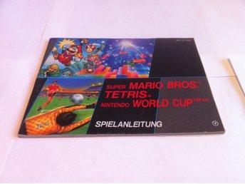 Super Mario bros/Tetris/World Cup (Manual - Tysk)