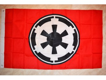 Galactic Empire Imperiet fr. Star Wars Symbol Flagga 90*150cm Ny