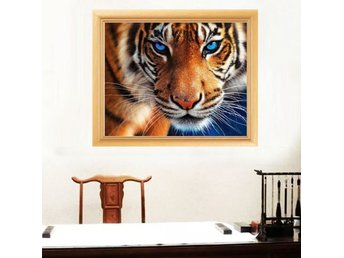 5D Diamant broderi 35x30cm Mosaik Embroidery Tiger