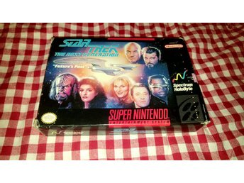 Star Trek The Next Generation Futures Past till Super Nintendo SNES NTSC TNG