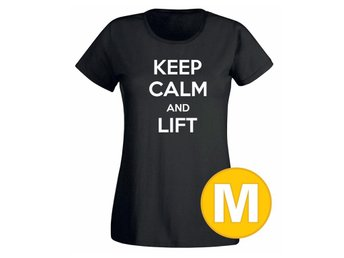 T-shirt Keep Calm And Lift Svart Dam tshirt M
