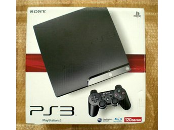 PS3 Slim 120GB med 4 spel