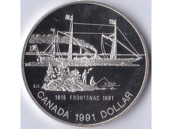1dollar 175th Anniversary of the S.S. Frontenac Kanada 1991 Silver 23,33g Proof