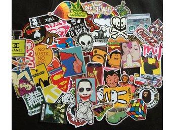 Klistermärken Stickers Blandade 200st - Hong Kong - Klistermärken Stickers Blandade 200st - Hong Kong