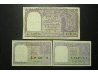 RESERVE BANK OF INDIA  2 X ONE RUPEE + TEN RUPEES