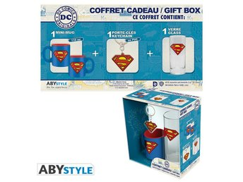 Gift Set - Glas, nyckelring & mugg - DC Comics - Superman