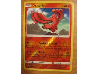 ORICORIO - RARE REVERSE HOLO - POKEMON GUARDIANS RISING 14/145