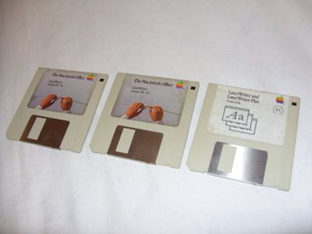 The Macintosh Office LaserWriter Sample File 1 & 2 plus Fonts Disks Apple