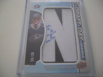 SP Game Used 17/18 Draft Day Marks Gabriel Carlsson - Columbus Blue Jackets //35
