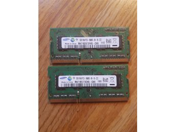 Ram minne, laptop, 1Gb +2Gb, DDR3, 1333Mhz