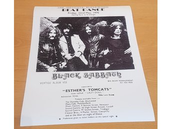 BLACK SABBATH BLACKWOOD U.K. 1970 POSTER