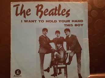 The Beatles singel I want to hold your hand (röd etikett)