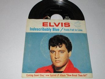 ELVIS PRESLEY US SINGEL INDESCRIBABLY BLUE