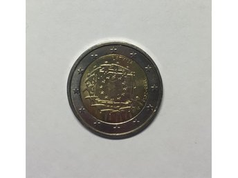 2euro- 30th anniversary of the EU flag