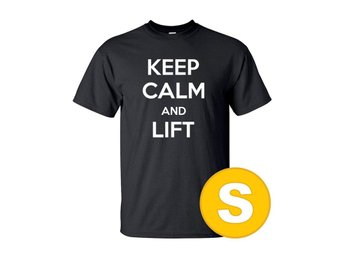 T-shirt Keep Calm And Lift Svart herr tshirt S