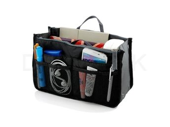Bag in Bag PORTABEL RESEHANDBAG ORGANIZER SMINK mm SVART