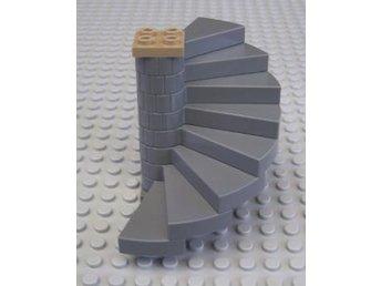 Lego - Tillbehör - Spiral Trappa svängd mörkgrå till Harry Potter mm - Uddevalla - Lego - Tillbehör - Spiral Trappa svängd mörkgrå till Harry Potter mm - Uddevalla