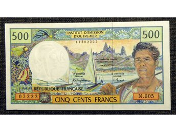 FRENCH PACIFIC TERRITORRIES 500 FRANCS 1969-95 OVIKT