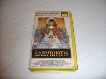 Labyrinth VHS PAL Engelsk äventyr fantasy film Jim Henson David Bowie 1986