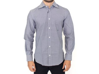 Cavalli - Blue checkered cotton shirt