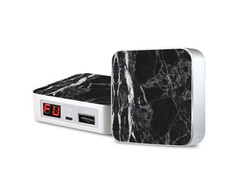 Portabel laddare - iPhone & Android -  Black Onyx Marble