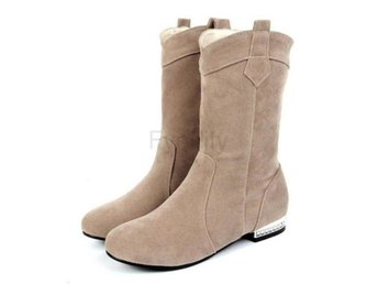 Dam Boots Half Short Botas Feminine Shoes Woman Beige 36