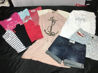 Klädpaket 10 delar stl 146/152, H&M, Scotch R´belle, Next Level