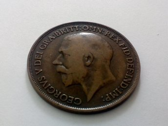 1 Penny 1918 , Great Britain , England ,Mynt