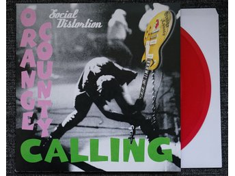 "social distortion ""orange county calling"" (""7, red vinyl, PS) mint"