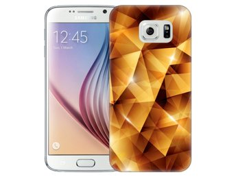 Samsung Galaxy S6 Skal Golden Polygons
