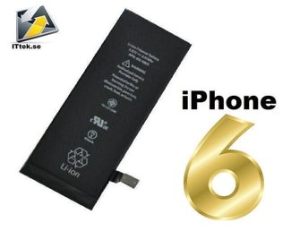 Fri Frakt iPhone 6 batteri + garanti