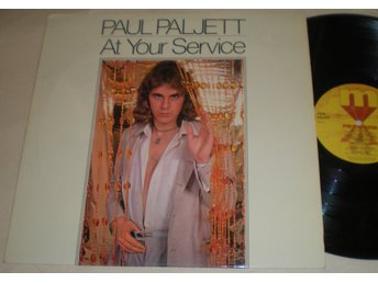 Paul Paljett Lp At Your Service 1978 VG++ Poster