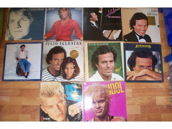 10 LP, Julio Iglesias, Billy Idol, Andy Gibb  m fl