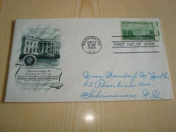 White House Washington National Capital Sesquicentennial 1950 USA förstadagsbre