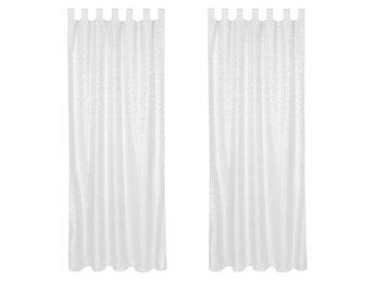 Gardiner Malmö : Fördragsbara gardiner med öglor vit av tectake på tradera