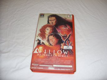Willow VHS PAL George Lucas Engelsk Portugal utgåva äventyr fantasy film