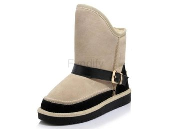 Dam Boots Warm Fur Shoes For Women Footwears Ivory 36