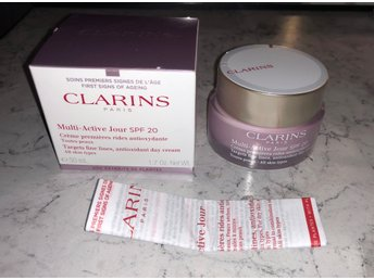 Clarins Multi Active Day spf20 Targets fine lines AntiOxidant cream all skin 50m