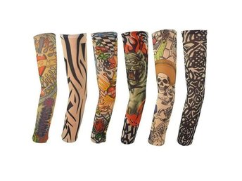FAKE TATOO TATTOO TATUERING ARM SLEEVE ARMSLEEVE ARMEN STRUMPA SLIM HALOWEEN